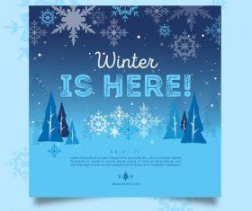 Winter beautiful card vector