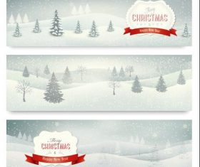 Winter christmas banner vector