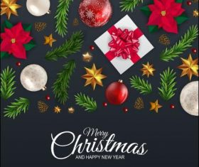 Winter holidays greeting illustration vector