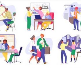 Work illustration vector