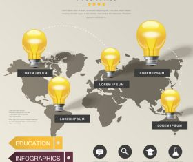 World education infographic options vector