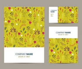 Yellow printing pattern company business card vector