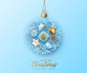 2021 Christmas decoration items vector