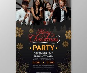 2021 XMAS Carnival Party Invitation Letter Vector