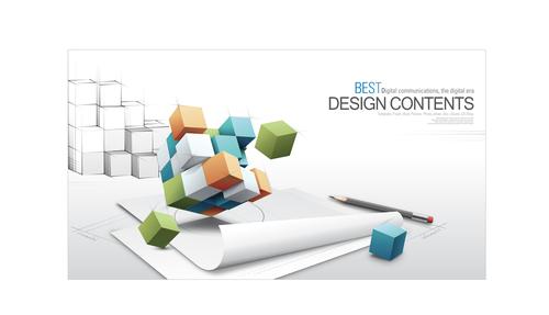 3d creative backgrounds vector