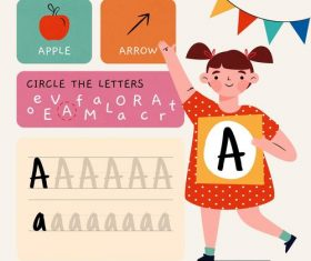 A letter word meaning and spelling vector