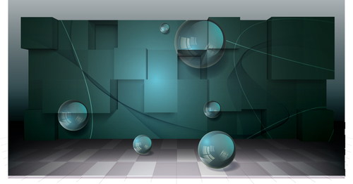Abstract 3d vector backgrounds