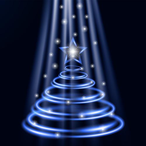 Abstract beautiful christmas tree vector