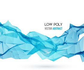 Abstract blue low poly background vector