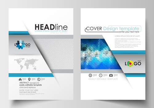 Abstract cover corporate brochure flyer vector