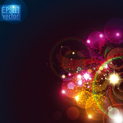 Abstract light composition flower background vector