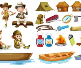 Adventure character cartoon vector