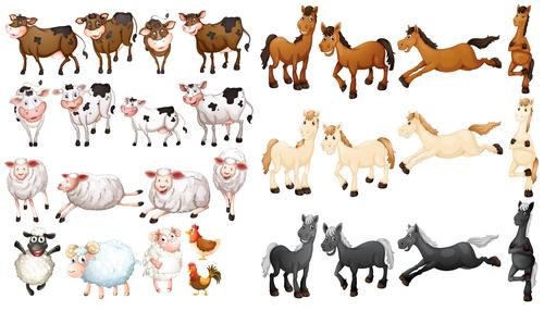 Animal collection cartoon vector