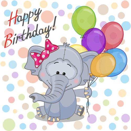 Animal cover birthday card vector