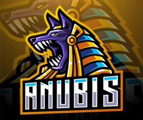Anubis game icon design vector