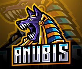Anubis game icon design vector
