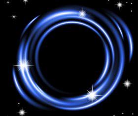 Arc blue vector