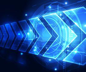 Arrow blue background vector