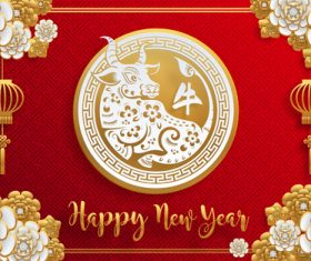 Awesome Chinese New Year Greeting Card Vector