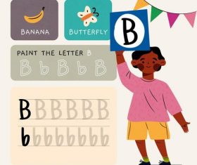 B letter word meaning and spelling vector
