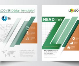 Back to school brochure vector