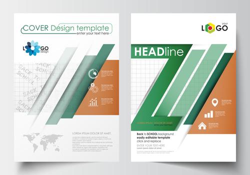 Back to school brochure vector