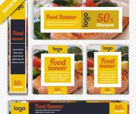 Banner vector restaurant poster