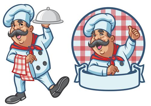 Bearded chef vector