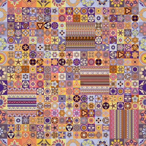 Beautiful ethnic ornament design vector