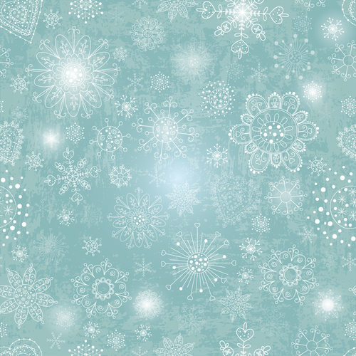 Beautiful snowflakes seamless background vector
