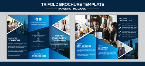 Best for your business brochure design vector
