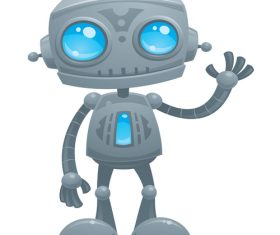 Big eyes robot vector