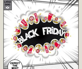 Black friday comic bang vector