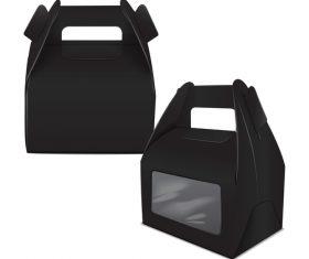 Black packing box vector
