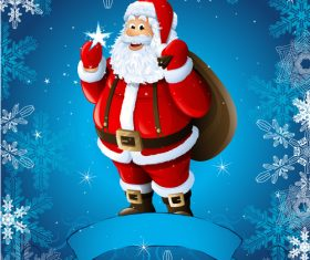 Blue background and santa vector
