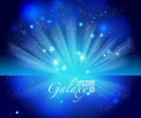 Blue background stars vector