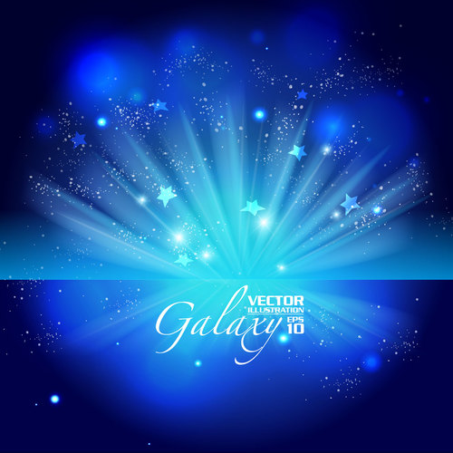 Blue background stars vector