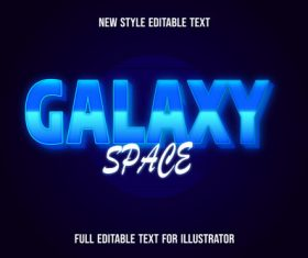 Blue gradient font text style effect vector