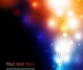 Blue light and blur light dot background vector