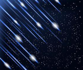 Blue meteor vector