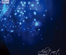 Blue shiny light abstract background vector