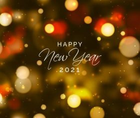 Blurred new year 2021 vector