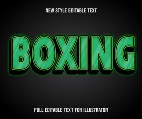 Boxing text style effect vector