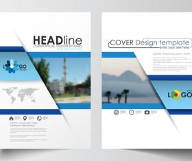 Brochure magazine cover vector