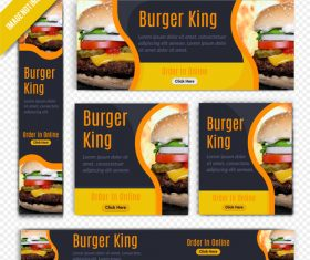 Burger king town restaurant poster vector