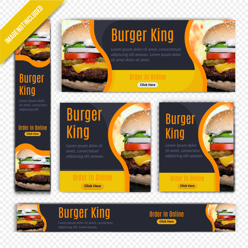 Burger king town restaurant poster vector