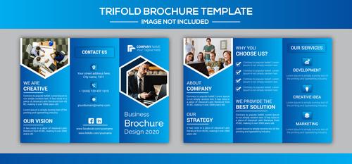 Business brochure design 2020 vector