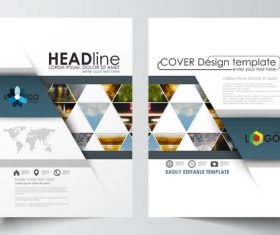 Business brochure flyer vector