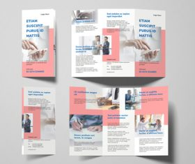 Business in general tri fold brochure template vector