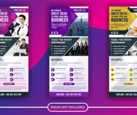 Business poster banner vector